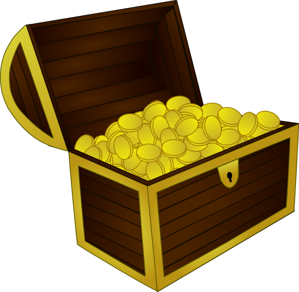 Chest clipart. Treasure clip art at