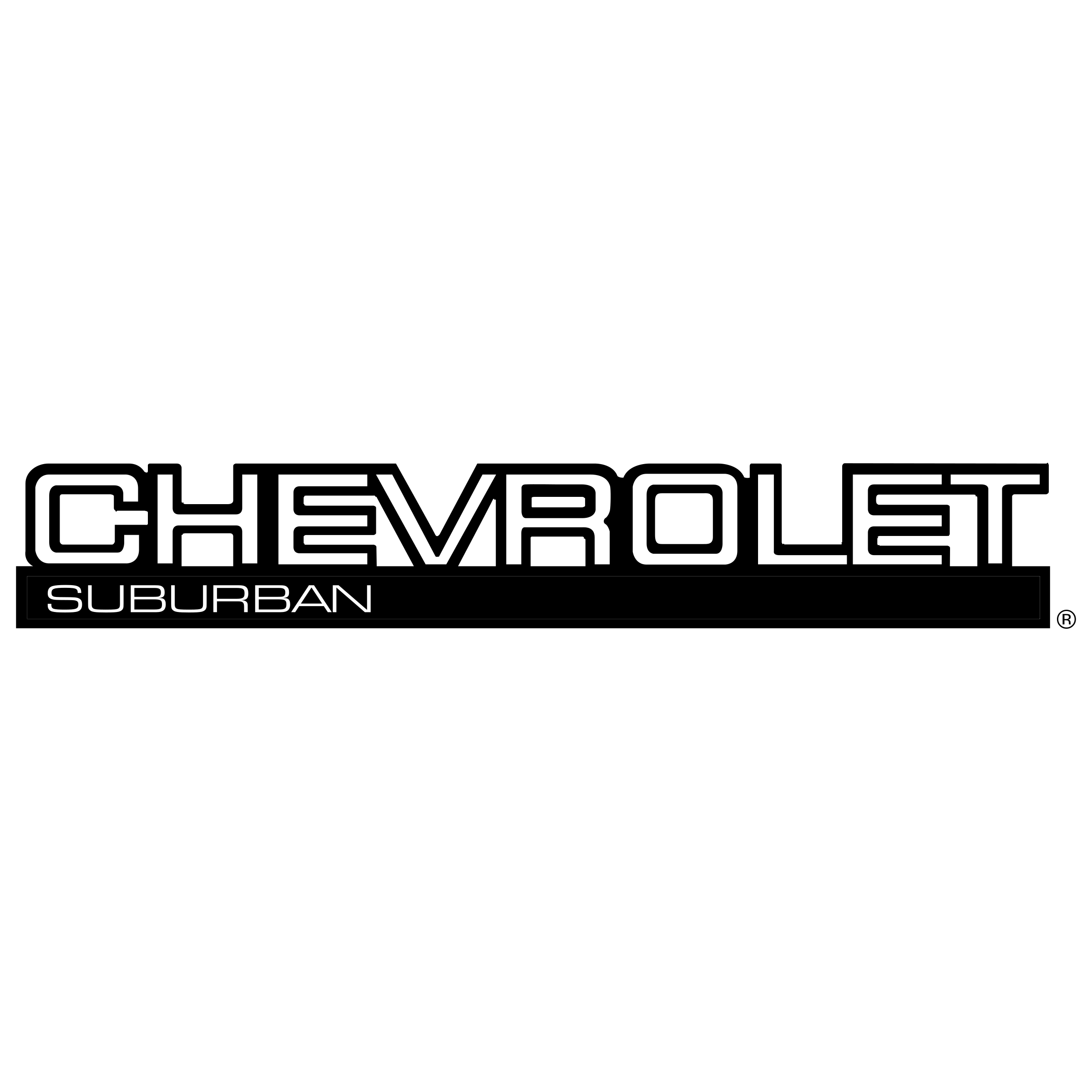 Chevrolet vector black and white. Suburban logo png transparent