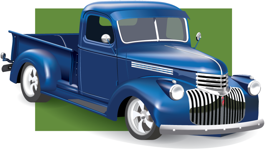 Chevrolet vector classic truck. Pickup by swanguy