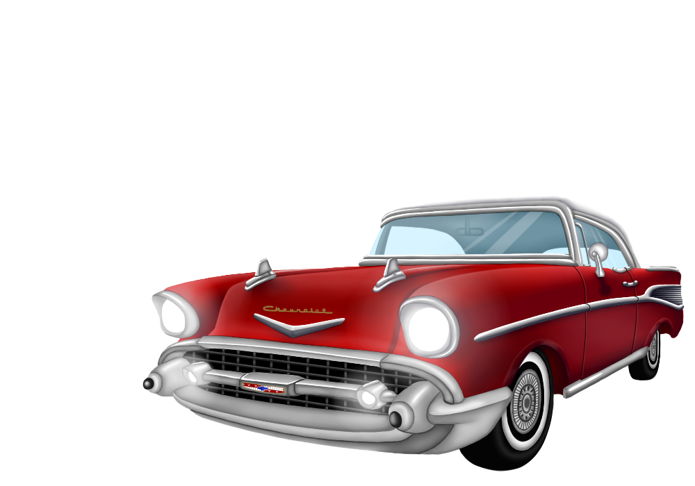 chevy drawing 57