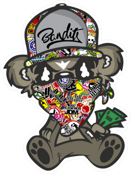 Chevy drawing bomb. Sticker jdm bandit assis