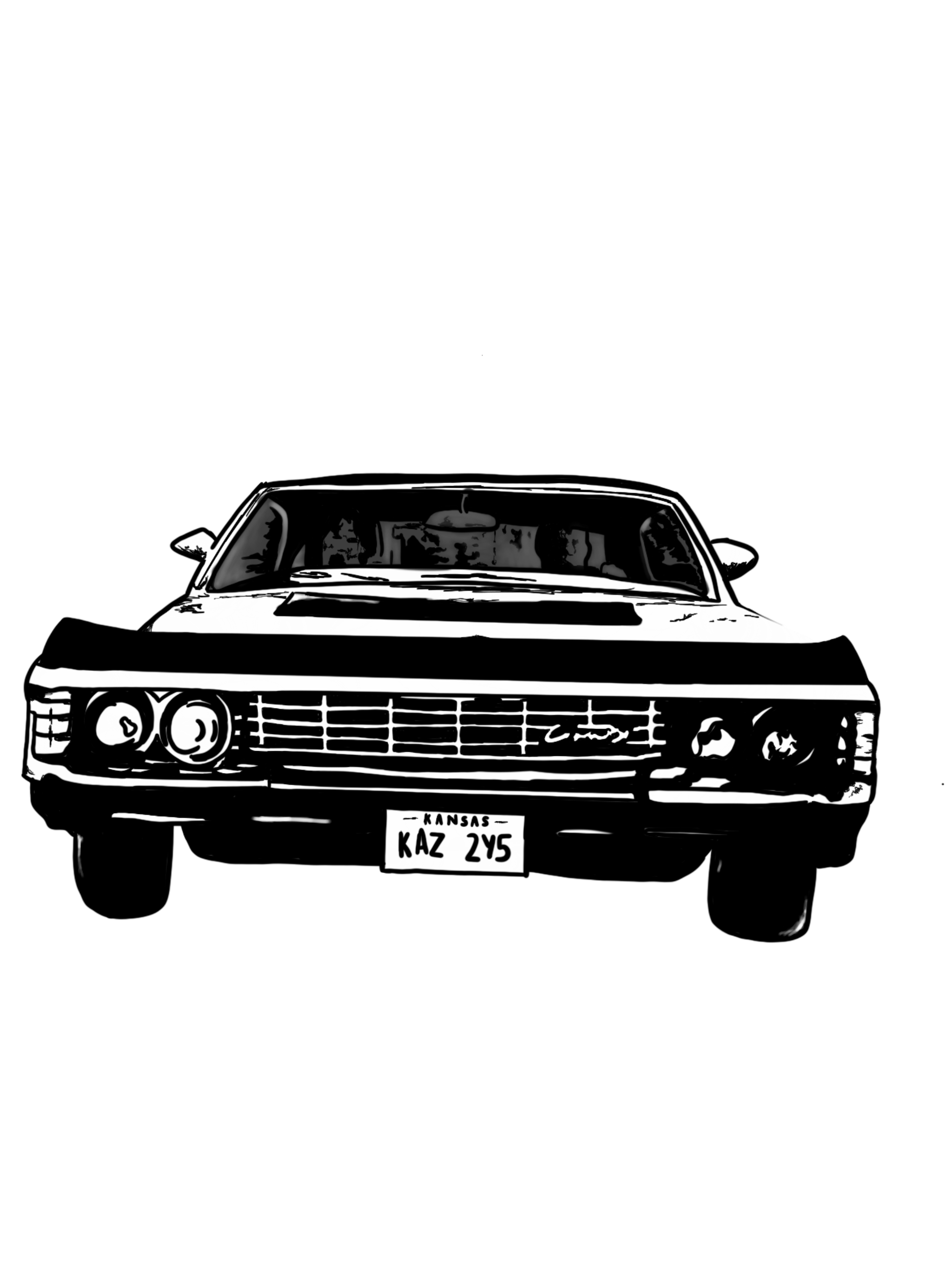Impala drawing car muscle chevy. My art pinterest