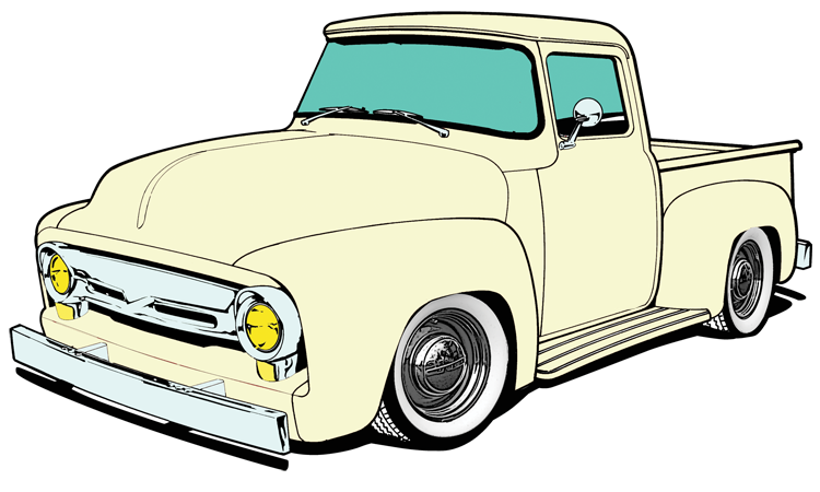 Chevy drawing f100. Project ford f new