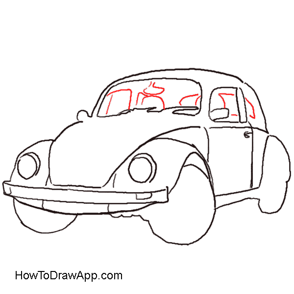Drawing door old fashioned. Fancy drawings of cars