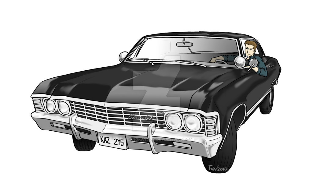 Chevy drawing impala. Dean commission by deangrayson