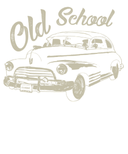 Chevy drawing old school. Classic car t shirt