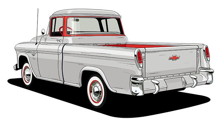 Chevy drawing pickup. Truck legends year history