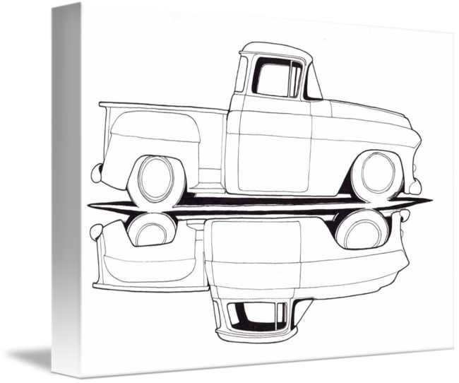 Chevy drawing pickup. By kent talley
