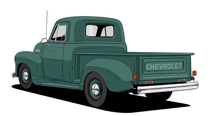 Chevy drawing square body. Truck legends year history