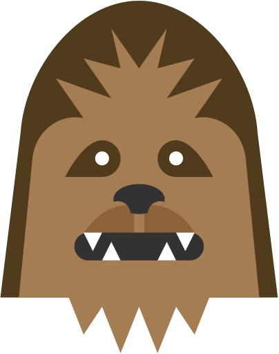 Chewbacca head png. Wookie icon similar