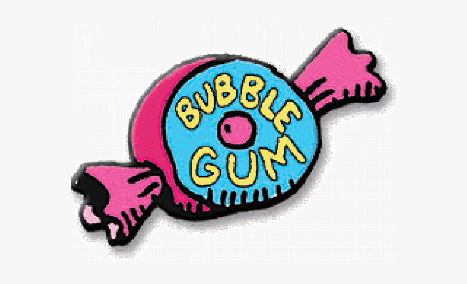 Chewingum. Chewing gum clipart bubble