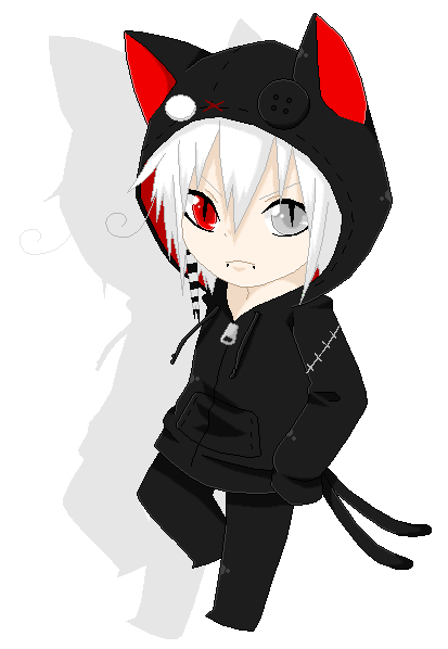 Chibi boy png. Anime for with hoodie