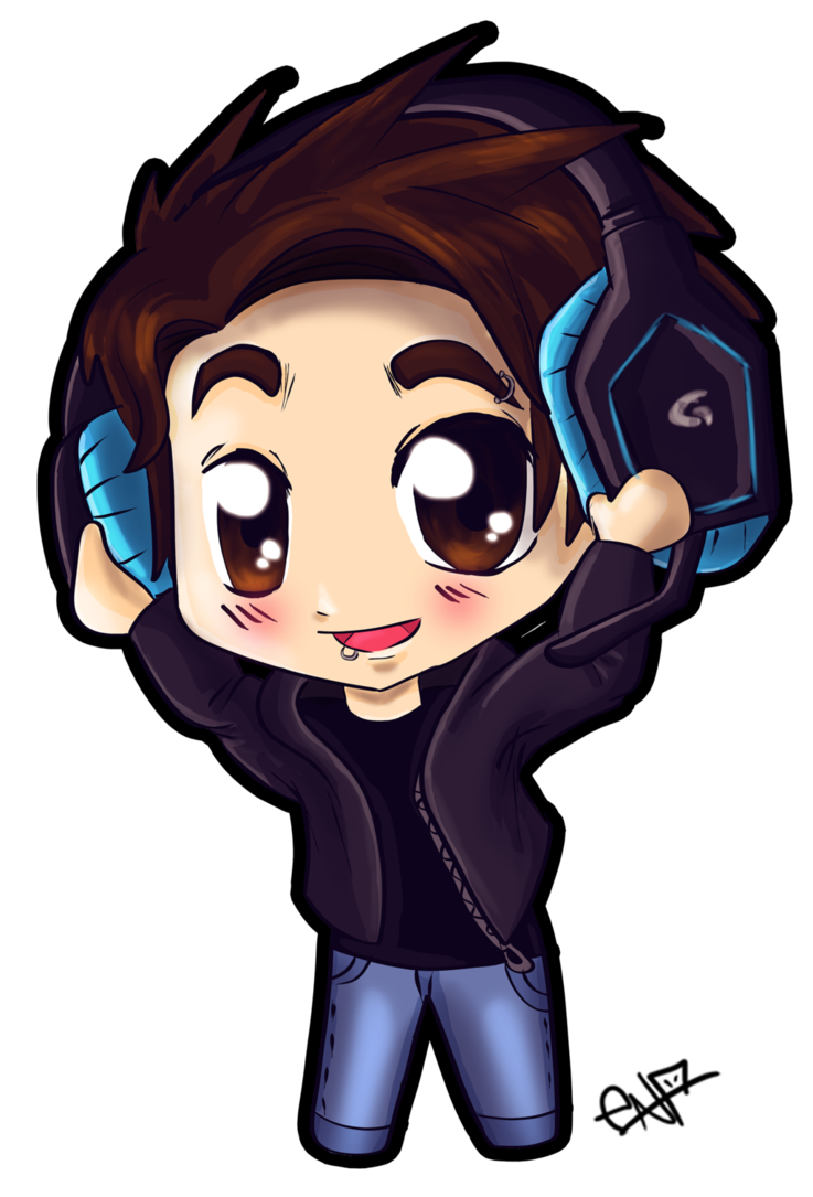 Chibi boy png. With headphones by ena