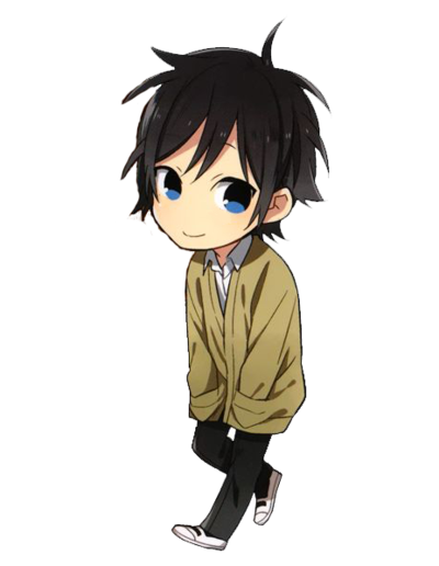 Chibi boy png. Anime school uniform by