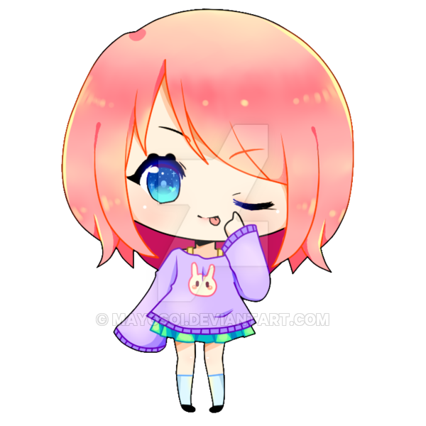 Chibi girl png. By mayosoi on deviantart