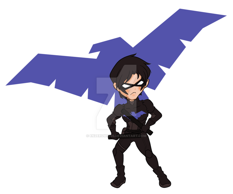 Chibi nightwing png. By enzeruwings on deviantart