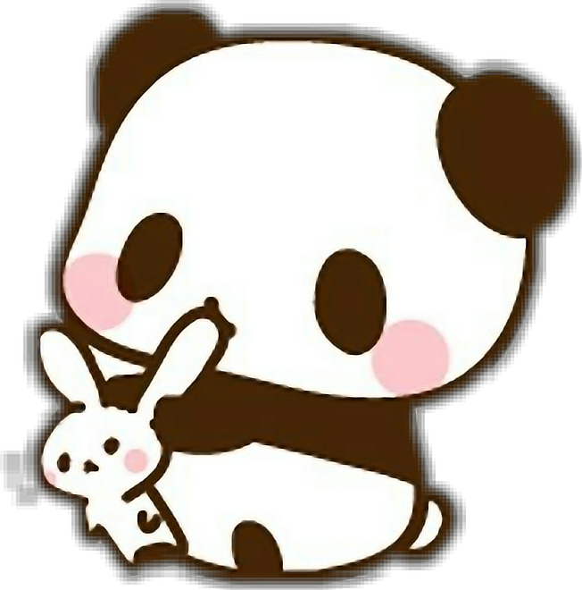 Chibi panda png. Adorable