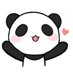 Chibi panda png. Black and white clipart