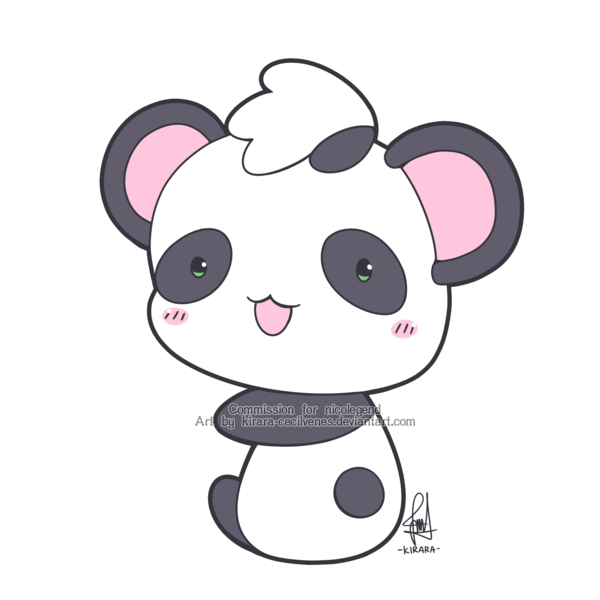 Chibi panda png. Commission mini by kirara