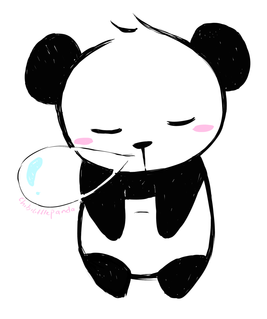 Chibi panda png. Collection of drawing