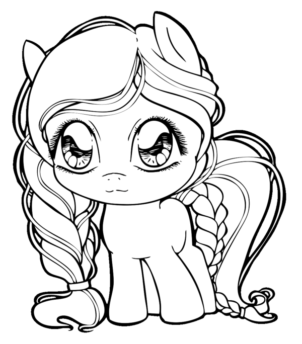 drawing ponies lineart