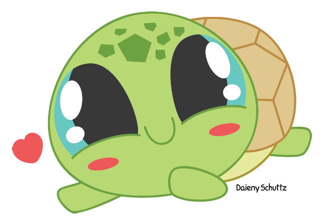 Chibis drawing adorable. Collection of turtle
