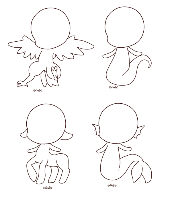 Chibi base by eelball. Chibis drawing graphic royalty free stock