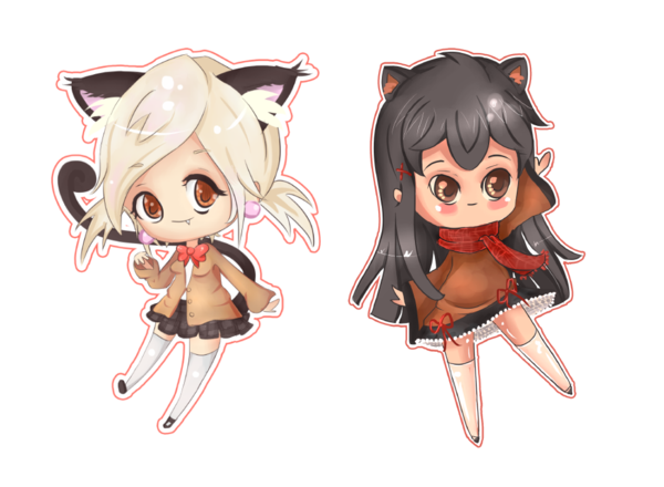 Chibis drawing bff. Anime chibi images bffs
