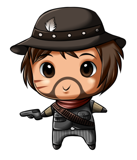 Chibis drawing gangster. Red dead redemption chibi