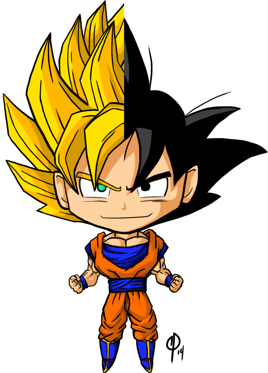 Chibis drawing goku. Chibi and ssj by