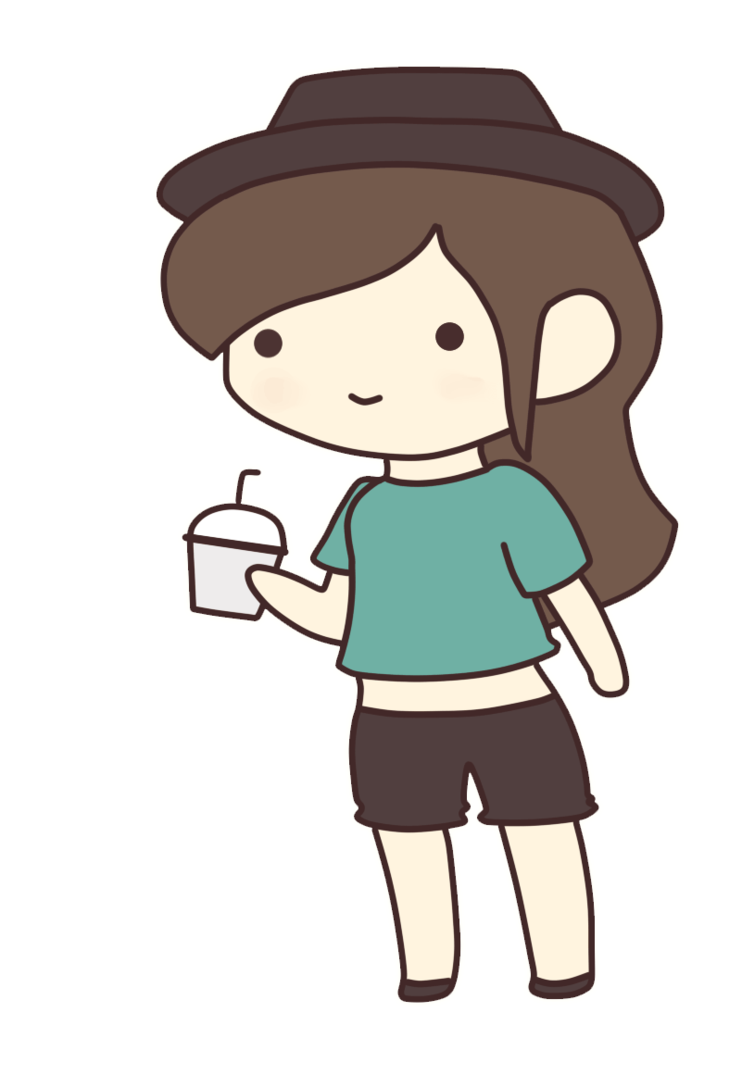 Chibis drawing hipster. Request chibi by actualonodera