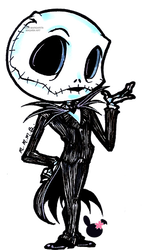 Chibis drawing nightmare before christmas. Chibi jack skellington by