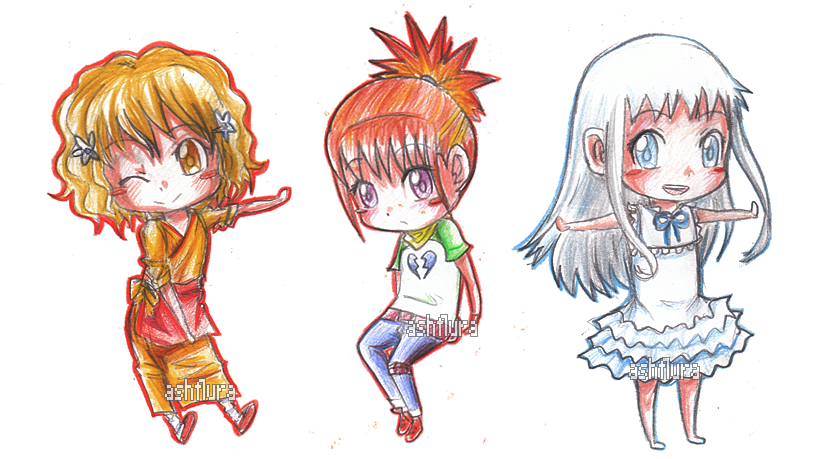 Chibis drawing pencil. Anime chibi specials by