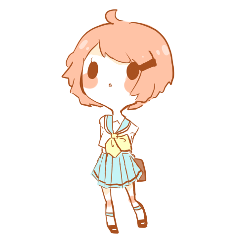 Chibis drawing simple. Chibi example by candycle