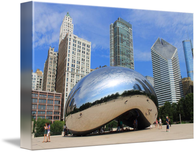 Chicago transparent bean. And skyline by frank