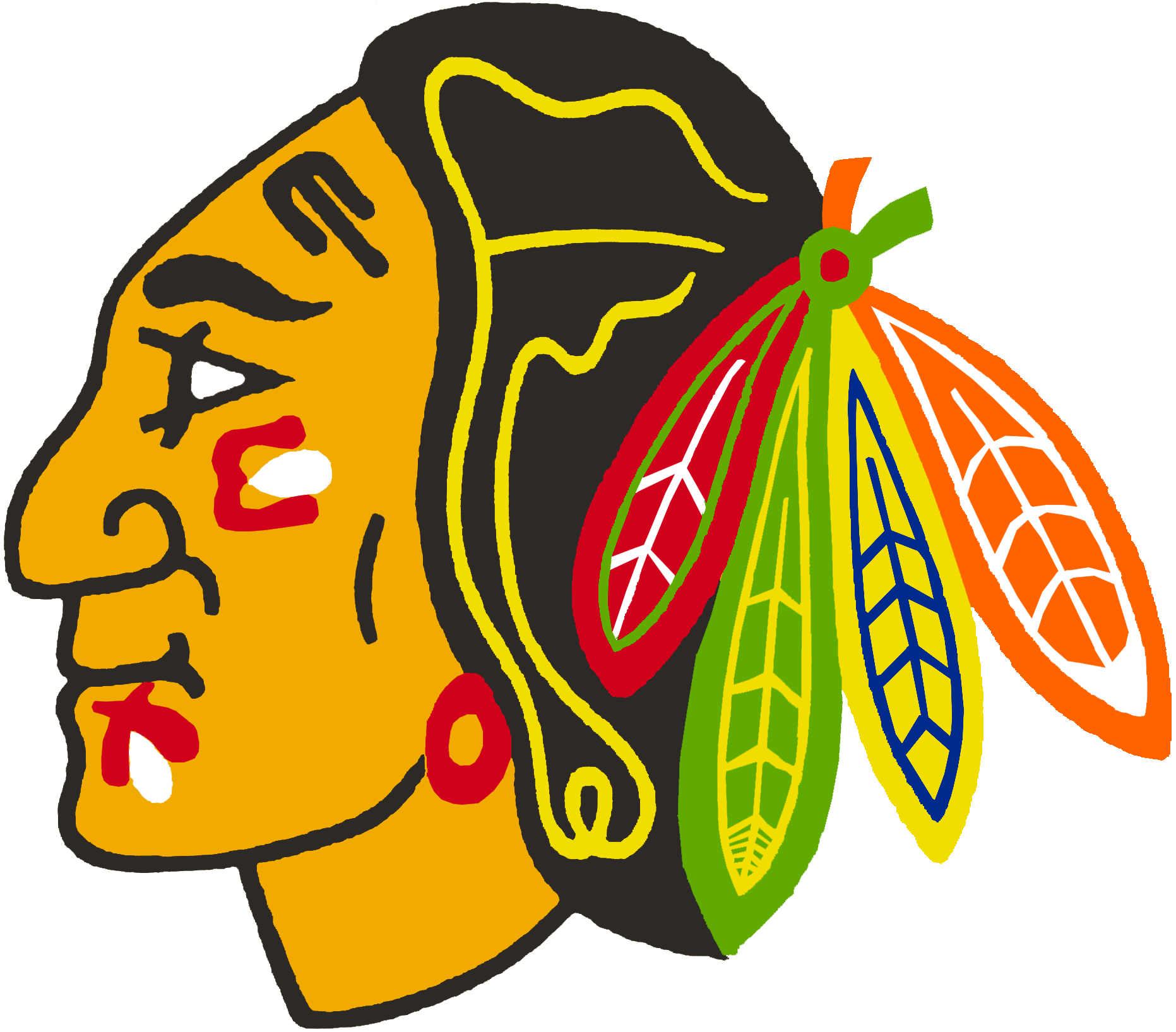 chicago blackhawks feathers png
