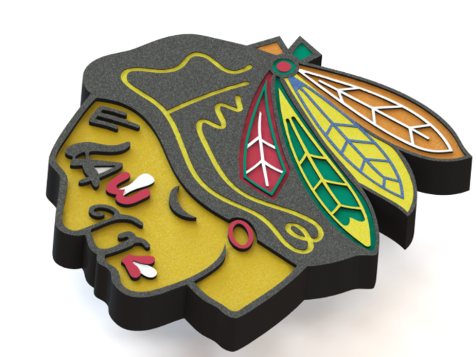 d printed logo. Chicago blackhawks png vector black and white download