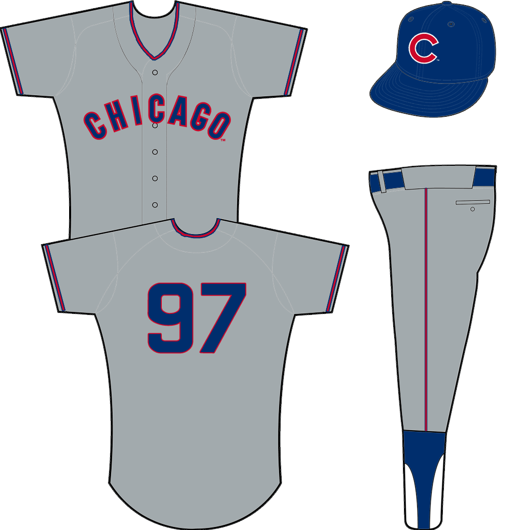 Chicago cubs penstripes png. Road uniform arched on