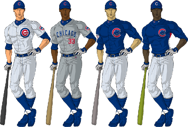 Chicago cubs uniforms png. S top professional