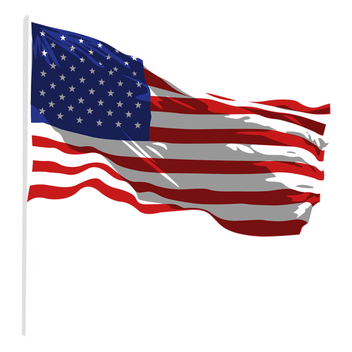 Svg flags gun. United states waving flag