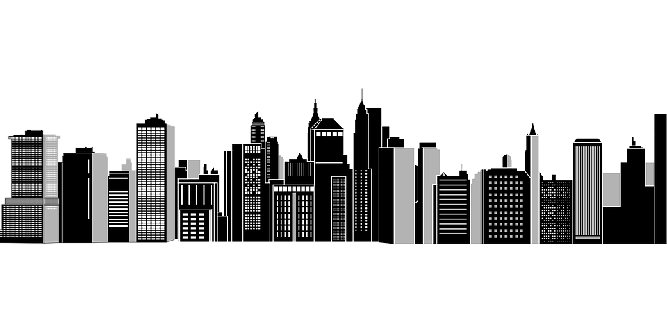 Chicago skyline outline png. Skyscraper black and white