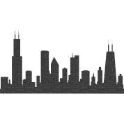 Chicago skyline png. Chi silhouette women s