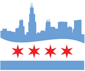 Chicago skyline png. By rmo design print