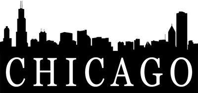 Chicago skyline png. Silhouette images in collection