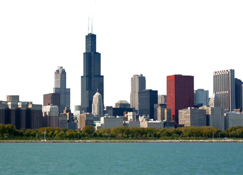 Chicago skyline png. Psd official psds