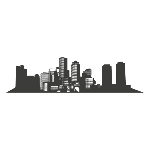 Chicago skyline vector png. Boston silhouette transparent svg