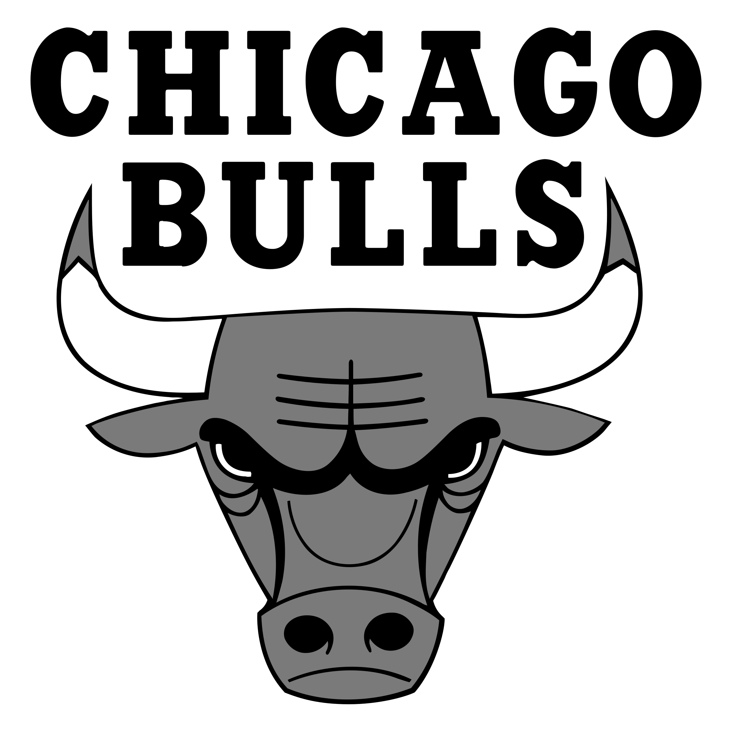 Chicago transparent black and white. Bulls logo png svg