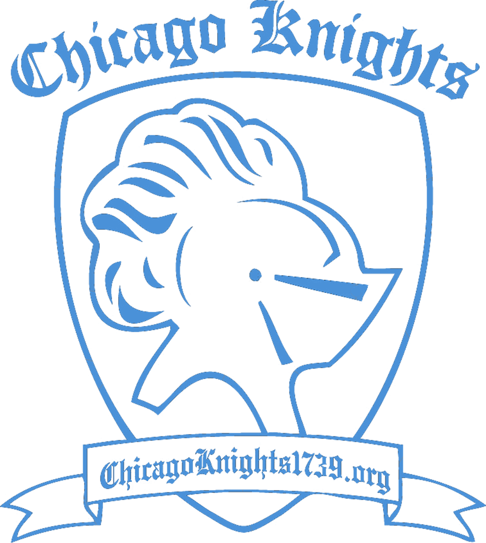 Chicago transparent line. Cropped knight front png