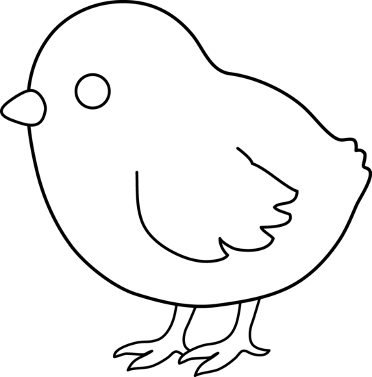 chickens clipart black and white