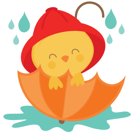 Chick clipart design. In umbrella svg scrapbook